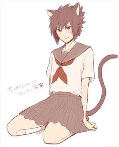 Kitty Sasuke uploaded by ɱίરλĵλɴε on We Heart It Sasunaru, Narusasu, Naruto Shippuden Sasuke, Itachi Uchiha, Naruto And Sasuke, Anime Oc, Anime Guys, Loki Drawing, Anime Maid