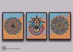 A personal favorite from my Etsy shop https://www.etsy.com/listing/508925051/blue-mandala-prints-mandala-wall-art-set