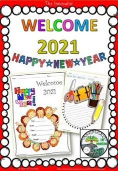 Happy New Year 2021 - Resolutions..............................................................................Happy and Safe New Year 2021 ...!!Enjoy this resource of NO PREP printable resources. Included in this resource: * Welcome 2021 - coloring kids' activities * Describe yourself * New Year 20... Learning Resources, Teacher Resources, Science Boards, End Of Year Activities, Writing Strategies, Classroom Setting, Core Collection, Describe Yourself, My Teacher