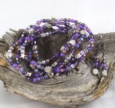 Napa Grapes yummy purple stretchy seed bead by OklahomaMama