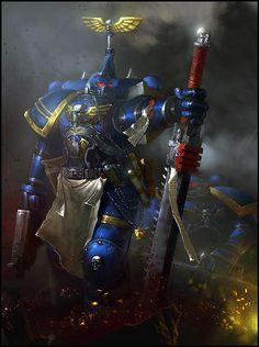 """Warhammer art by Anton Kokarev (kanartist) Warhammer 40k Art, Warhammer Fantasy, Warhammer Armies, Examples Of Concepts, Space Wolves, Geek Art, Space Marine, Sci Fi Art, Fantasy Art"