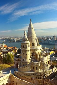 Buda Castle in Budapest, Hungary. Straight out of a fairy-tale, Buda Castle is a must-see when in Budapest. Climb one of the turrets for stunning views of both sides of the city, Buda and Pest, which are separated by the Danube river. Places Around The World, Oh The Places You'll Go, Places To Travel, Places To Visit, Around The Worlds, Beautiful Castles, Beautiful World, Wonderful Places, Beautiful Places