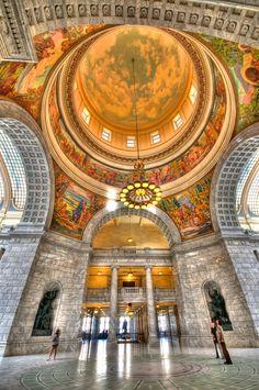 ~ Rotunda of the State Capital ~ Salt Lake City. Utah....
