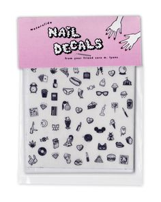 Hey, I found this really awesome Etsy listing at https://www.etsy.com/listing/121782159/cute-sleazy-teeny-tiny-nail-decals-bw