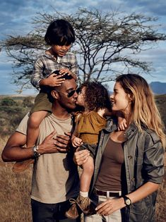 """""""In the Land of Giants"""" Doutzen Kroes and Family for Glamour US June 2016"""