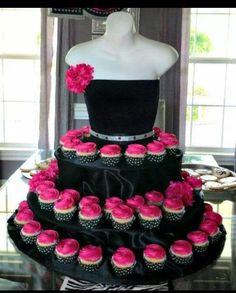Cupcake Maniquin Tower