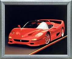 Red Ferrari F-50 Fast Sports Car Wall Decor Silver Framed... https://www.amazon.com/dp/B01N9EJ4M9/ref=cm_sw_r_pi_dp_x_R5vfzb70ZB1TY