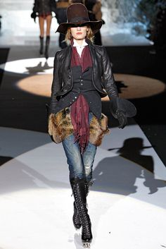 Dsquared2 Fall 2011 Ready-to-Wear Fashion Show - Constance Jablonski