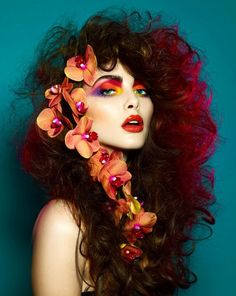 colour with a mix of 1970's hair i love this look
