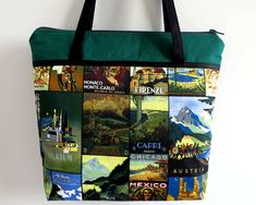 Women's Handbag, Shoulder Bag, Zip Closure with Two Internal Pockets, Travel Bag, Vintage Style Travel, Gift for Traveller, Wanderlust Gifts by RachelMadeBoutique on Etsy https://www.etsy.com/au/listing/533635855/womens-handbag-shoulder-bag-zip-closure