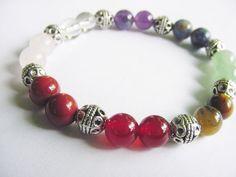 Chakra Bracelet  7 Chakra Gemstones Beaded by CherylsHealingGems, $26.00