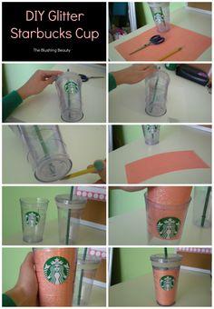 DIY Starbucks Cup | The Blushing Beauty
