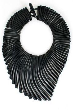 Monies Ebony Wave Necklace