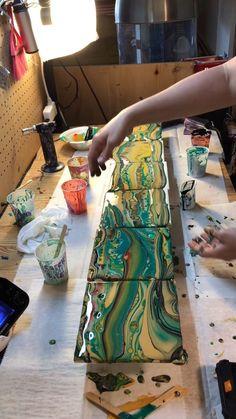 Using Acrylic Paint Acrylic Painting Techniques Acrylic Art Flow Painting Pour Painting One Stroke Acrylic Pouring Resin Art Fatale Acrylic Pouring Techniques, Acrylic Pouring Art, Acrylic Liquid, Resin Crafts, Resin Art, Flow Painting, Painting On Tiles, Pour Painting, Acrylic Art Paintings