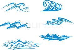Vector of 'Ocean and sea waves'