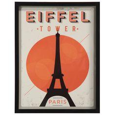 Uma ilustração do ponto mais marcante da cidade luz, a Torre Eiffel. Fica ainda mais lindo em conjunto, com outras ilustrações que remetem a cidades. #picture #frame #decoratingideas #decorate #art #photography #painting #eifel #paris