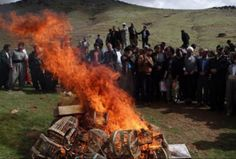Hunters in Iran burn their hunting gear and swear to stop killing wildlife.