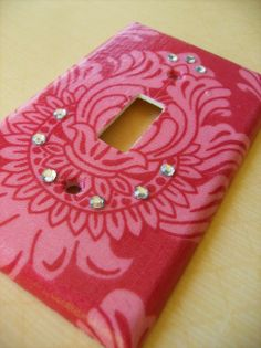 Pink Damask Single Light Switch Plate Cover by COUTURELIGHTPLATES, $4.95