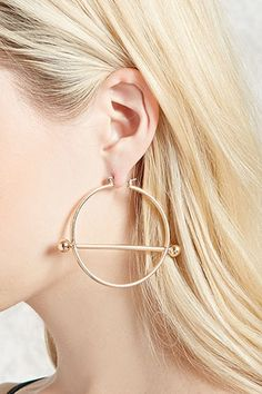 Product Name:Crescent Drop Hoop Earrings, Category:ACC, Price:5.9