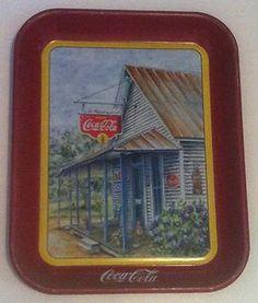 "Vintage Coca Cola Ads   Vintage Coca Cola Tray Coke Ad Sign Original Authentic ""Thrift ..."