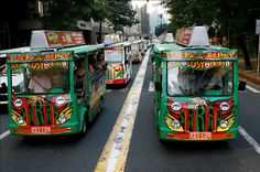 E-Jeepneys in Makati City Philippines