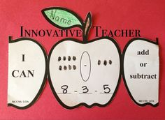 This Apple Math product includes apple templates that can be used for either your Kindergarten or First grade students. (Adding or Subtracting) by Innovative Teacher