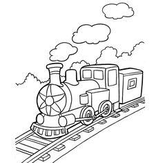 Coloriage Train Wagon a Imprimer Gratuit