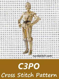 C3PO Cross Stitch Pattern  - Nerdstitch.com