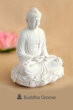 Statues Art Illustration - Greek Statues Black And White - - White Buddha Statue, Buddha Statue Home, Buddha Statues, Meditation Garden, Buddha Meditation, Meditating Buddha Statue, Statue Art, Art Roman, Statue Tattoo