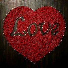 Сердце Валентинка 40×40см стринг арт – купить или заказать в интернет-магазине на Ярмарке Мастеров   Необычная Валентинка к приблежающемуся празднику…