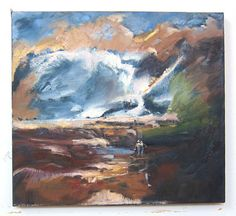 Catskill Landscape 20 x 18 Oil Painting by GreganPaintings on Etsy