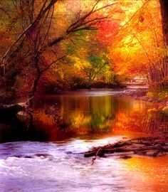 """Kevin Clifford: """"Clinton River in the Fall"""" by Kevin Clifford of Rochester Hills. The photographer was standing at the bend of the river looking south at Yates Cider Mill in Rochester Hills when he took this picture in October 2005.  I used to go to this cider mill often, when I lived there."""