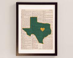 Baylor Bears Dictionary Print - Waco Texas, Baylor University - Print on Vintage Dictionary Paper - Graduation Gift, Football