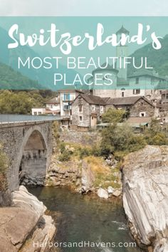 11 of the Most Beautiful Places in Switzerland — Harbors & Havens Europe Destinations, Europe Travel Guide, Travel Guides, Places In Switzerland, Switzerland Vacation, Switzerland Itinerary, Emerald Lake, European Travel, Swiss Travel