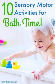 Time Activities, Motor Activities, Sensory Activities, Infant Activities, Sensory Motor, Sensory Play, Baby Bath Time, Time Kids, Kids Fun