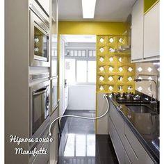"""""""Nosso cobogó Hipnose Amarelo, e seu charme no projeto lindo da arquiteta @marilia.arq #manufattirevestimentos #elementovazado #manufatti"""""""