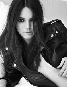 Pillow Tweets - Kendall Jenner @Kendall Finlayson Jenner on Instagram and Twitter I have eight half-siblings and one full one. I can barely keep up. BLK DNM jacket.