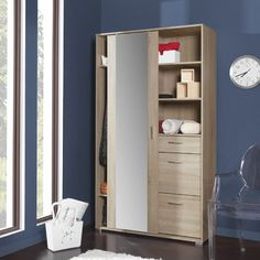 Modern furniture for living room Single Door Wardrobe, Hall Wardrobe, Sliding Wardrobe Doors, Bedroom Wardrobe, White Wardrobe, Armoire Wardrobe, Mirrored Wardrobe, Sliding Door, Hall Furniture
