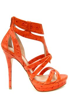 Stunning Women Shoes, Shoes Addict, Beautiful High Heels Jerome C. Rousseau S/S 2012 Shoe Boots, Shoes Heels, Strappy Heels, Orange Shoes, Pumps, Stilettos, Hot High Heels, Beautiful Shoes, Shoe Collection