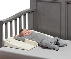 hiccapop Baby Crib Wedge with Anti Roll Pillow Bumpers   Incline Infant Sleep Wedge Stops Rolling and Sliding - $34.92