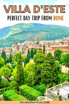 Tivoli Italy, Rome Italy, Museum Guide, Day Trips From Rome, Rome Travel, Ancient Ruins, Country Estate, Terrace Garden, Culture Travel
