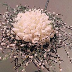 White tulip and Salic bouquet Art Floral, Deco Floral, Floral Bouquets, Wedding Bouquets, Tulip Wedding, Corporate Flowers, Modern Flower Arrangements, Bridal Flowers, Decoration Table