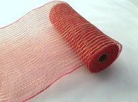 "10"" Poly Jute Mesh: Red"