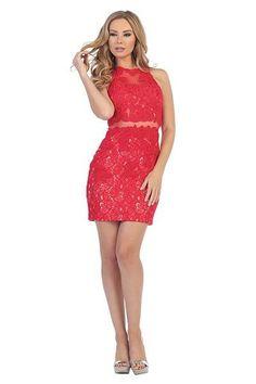 Full Lace Short Homecoming 2016 dress 107-6017