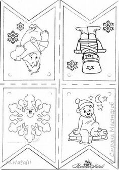 В детстве у меня были цветные флажки на елку. Было бы отлично, если бы у наших детей, появились такие же добрые воспоминания. Я создала шаблон флажков. Добавила симпатичных сказочных героев. Спасибо художникам, которые их нарисовали. Флажки можно использовать для работы в классе, группе, детском саду. фото 8