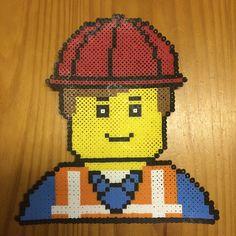 Emmet Lego Movie perler beads by meeker1977