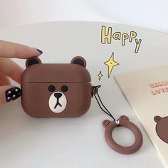 Item Type: BagsSize: For Airpods CaseModel Number: Cover For Airpods Pro FundaMaterial: SiliconeFunction: Earphone Case For AirPods Iphone 8 Plus, Iphone 7, Iphone Cases, Bear Cartoon, Cute Cartoon, Earphone Case, Air Pods, Line Friends, Airpods Pro