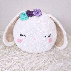 Crochet Bunny Pillow Pattern/ bunny pillow/ crochet bunny/ Animal pillow/ knit bunny/ bunny toy/ stuffed bunny/ crochet pattern – Knitting patterns, knitting designs, knitting for beginners. Bunny Crochet, Crochet Animals, Crochet Toys, Crochet Unicorn, Crochet Simple, Unique Crochet, Crochet Cushions, Crochet Pillow, Crochet Motifs