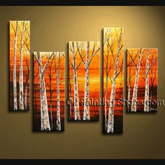 Huge Contemporary Wall Art for Interior of House Hand painted Oil Painting Tree from Bo Yi Gallery in St. Louis, Missouri