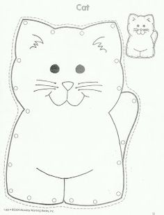 Squish Preschool Ideas Cat pattern
